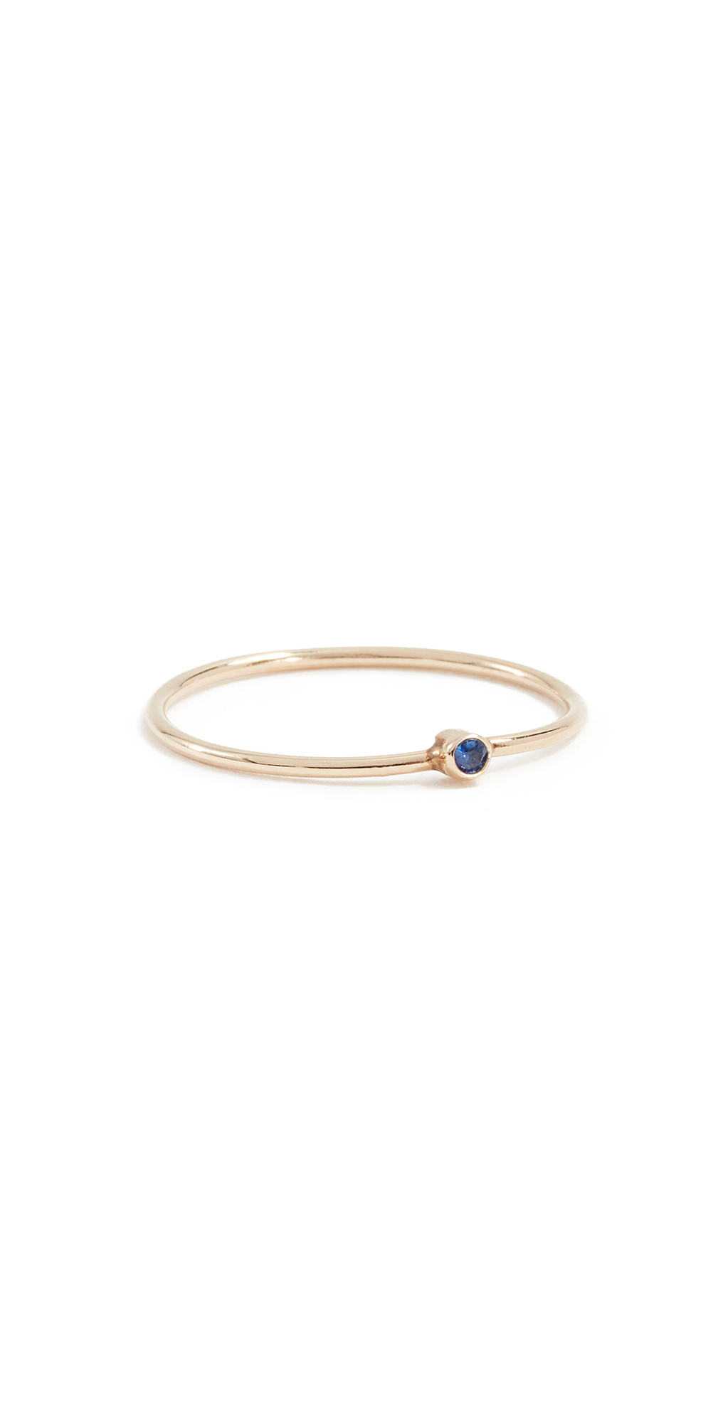 18k Gold Thin Ring with Sapphire