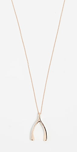 Jennifer Meyer Jewelry - 18k 玫瑰金许愿骨项链