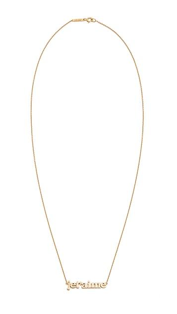 Jennifer Meyer Jewelry Jet'aime Necklace