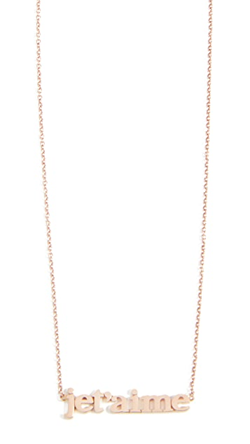 Jennifer Meyer Jewelry Колье Jet'aime