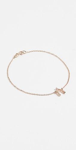 Jennifer Meyer Jewelry - 18k Gold Diamond Wishbone Bracelet