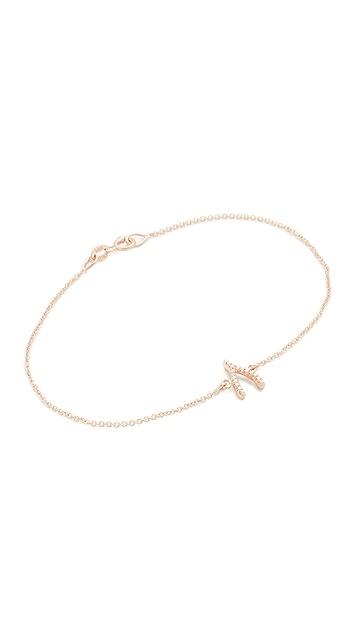 Jennifer Meyer Jewelry 18k Gold Diamond Wishbone Bracelet