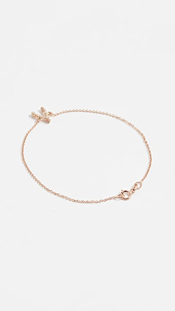 Jennifer Meyer 18k Gold Diamond Wishbone Bracelet P1hnPTN8