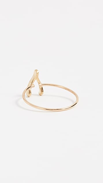 Jennifer Meyer Jewelry 18k Gold Mini Wishbone Ring