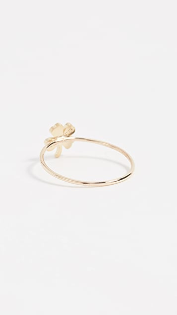 Jennifer Meyer Jewelry 18k Gold Mini Clover Ring