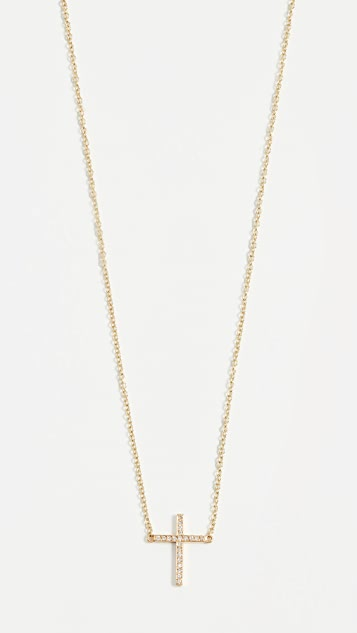 Thin Cross Necklace by Jennifer Meyer Jewelry