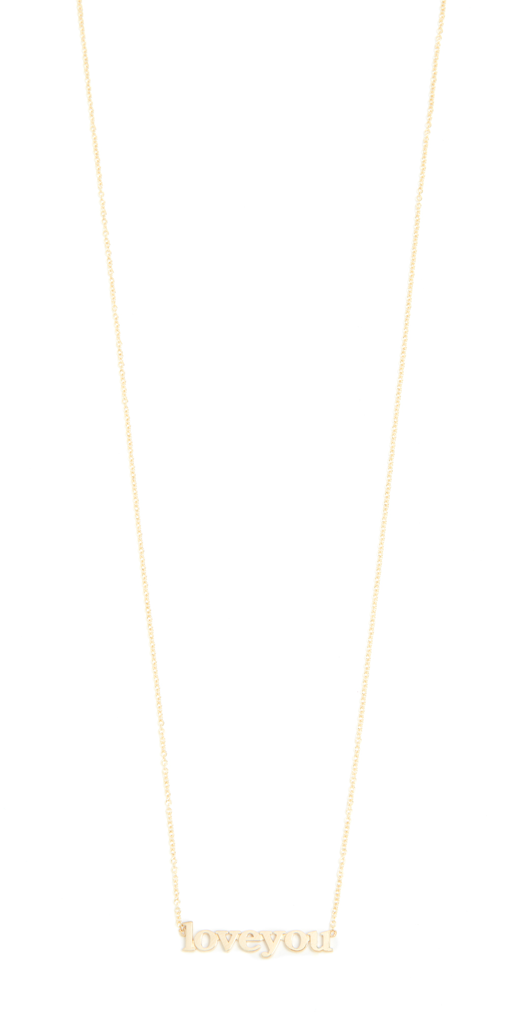 18k Gold Love You Necklace