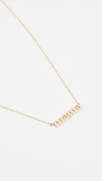 Jennifer Meyer Jewelry 18k Gold Mama Necklace