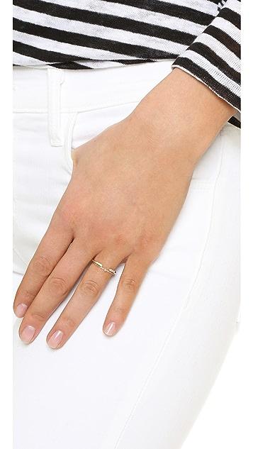 Jennifer Meyer Jewelry 18k Gold Pink Sapphire Thin Ring