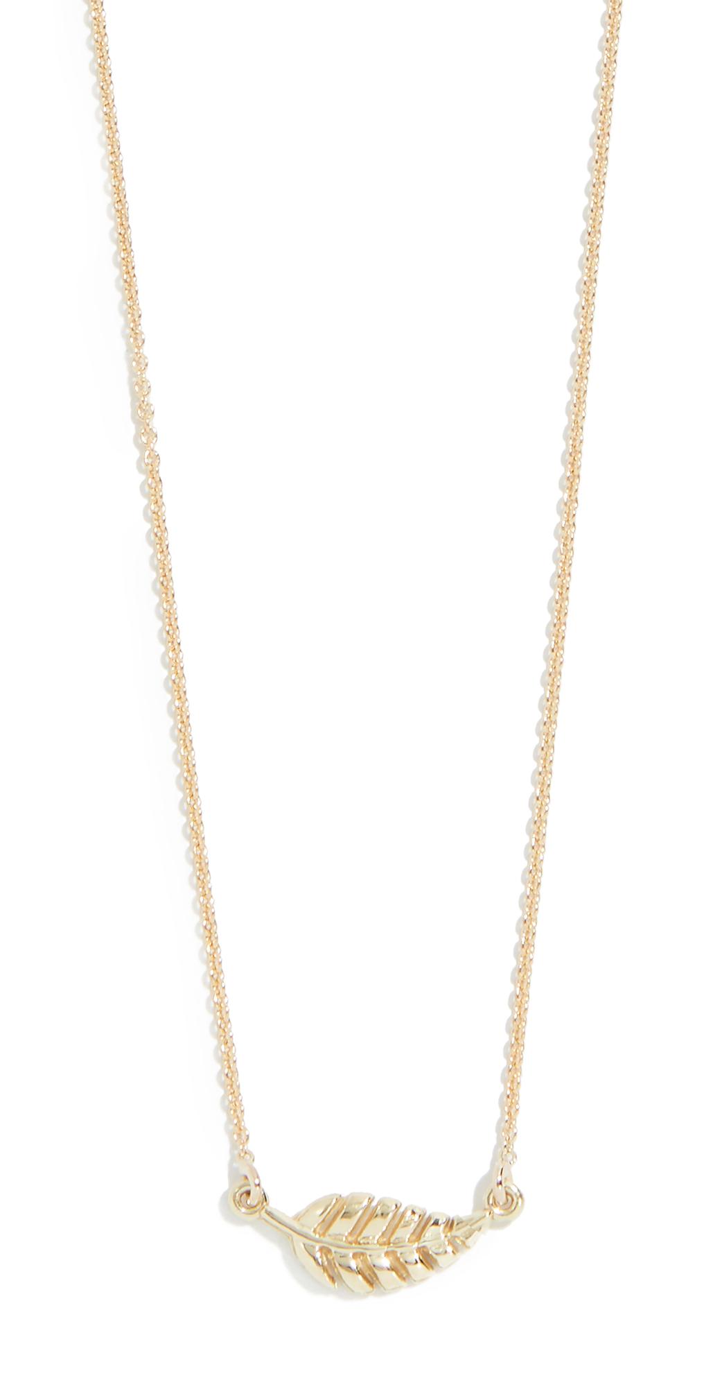 18k Gold Mini Leaf Necklace