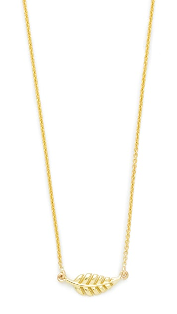 Jennifer Meyer Jewelry 18k Gold Mini Leaf Necklace - Gold