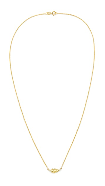 Jennifer Meyer Jewelry 18k Gold Mini Leaf Necklace