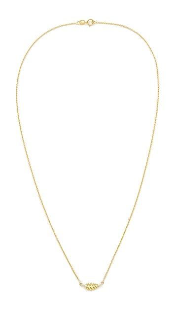 Jennifer Meyer 18k Gold Mini Leaf Necklace My3XNHhB