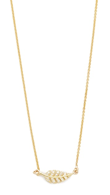 Jennifer Meyer Jewelry Diamond Mini Leaf Necklace