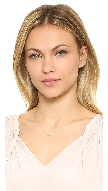 Jennifer Meyer Jewelry Diamond Mini Leaf Necklace
