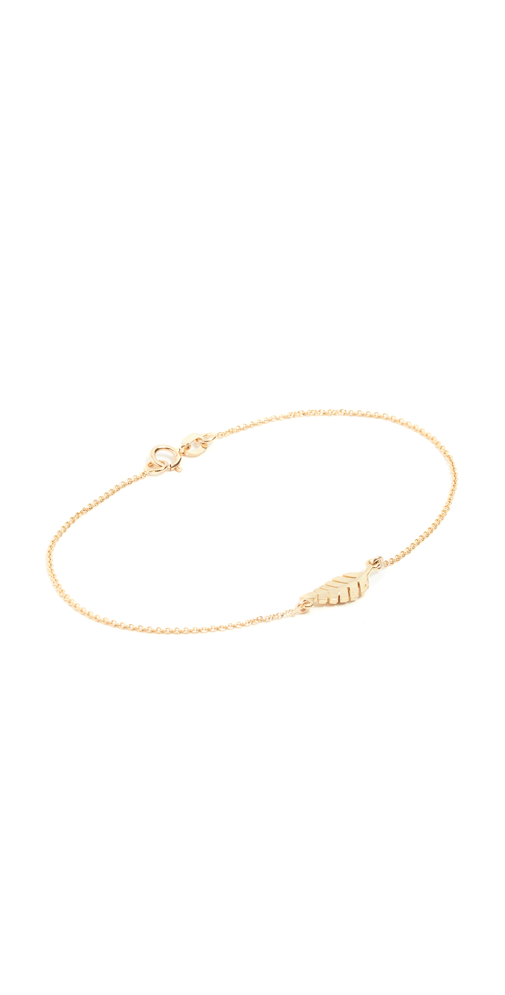 Jennifer Meyer Jewelry 18k Gold Mini Leaf Bracelet
