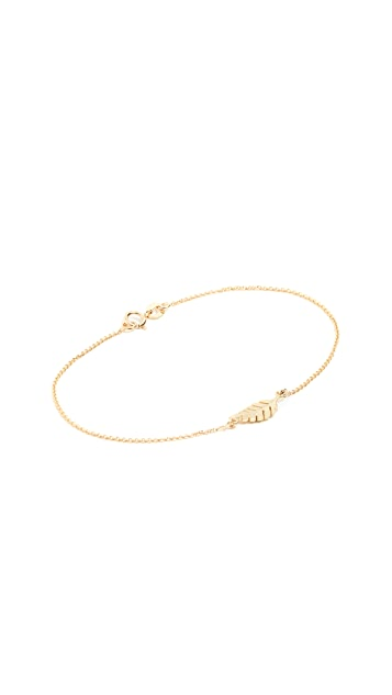 Jennifer Meyer Jewelry 18k Gold Mini Leaf Bracelet