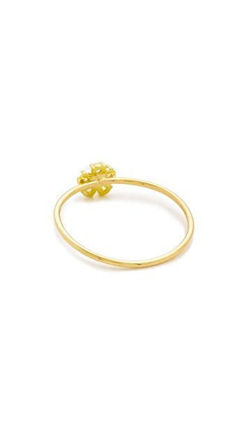 Jennifer Meyer Jewelry 18k Gold Diamond Single Flower Ring