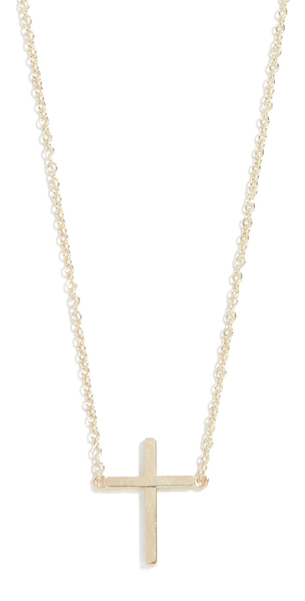 18k Gold Thin Cross Necklace