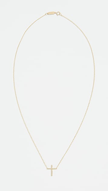Jennifer Meyer Jewelry 18K 金细十字项链