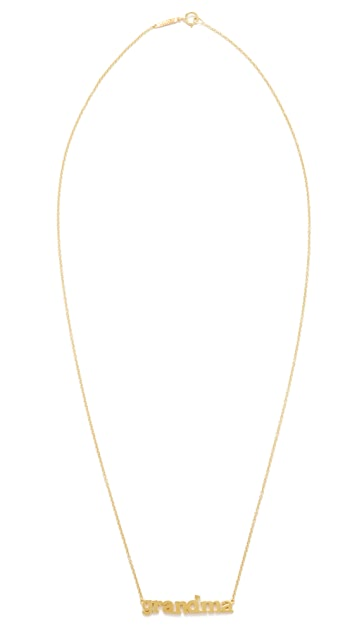 Jennifer Meyer Jewelry 18k Gold Grandma Necklace