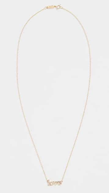 Jennifer Meyer Jewelry 18K 钻石 Love 项链