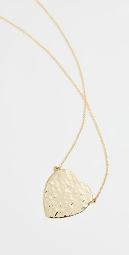 Jennifer Meyer Jewelry - 18k 金锤制心形项链