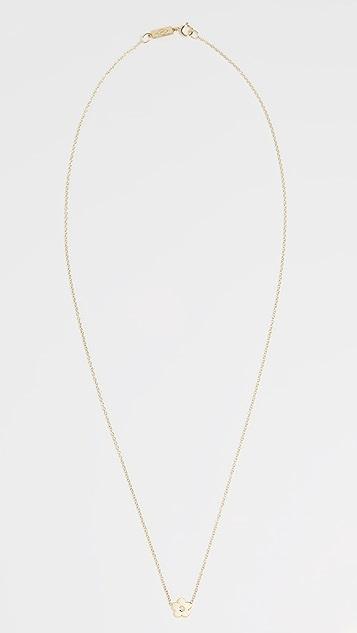 Jennifer Meyer Jewelry 18k Gold Mini Daisy Diamond Center Necklace