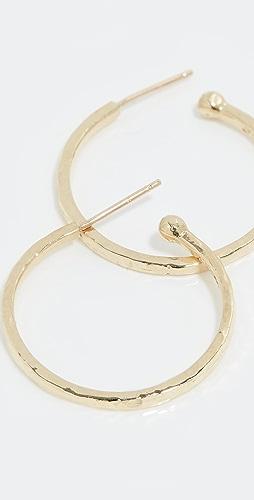 Jennifer Meyer Jewelry - 18k 金小号锤制圈式耳环