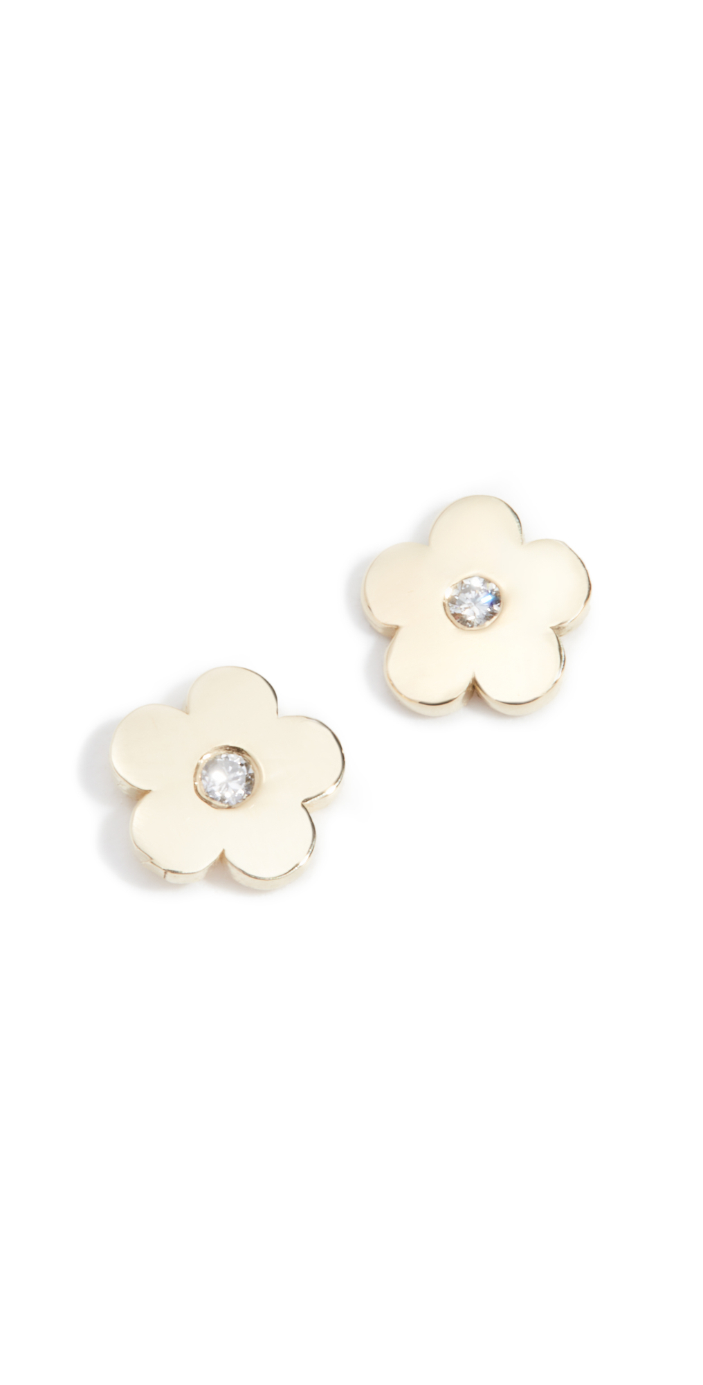 Mini Daisy Diamond Center Earrings
