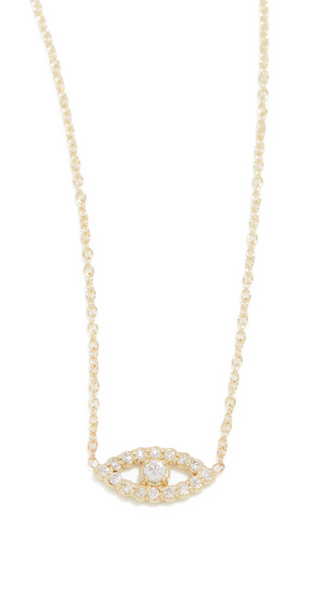 Mini Diamond Open Evil Eye Necklace