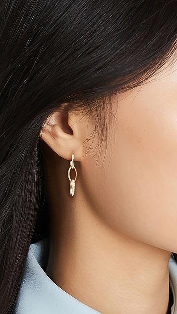 Jennifer Meyer Jewelry 3 Edith Link Studs with Diamond Pave Accent