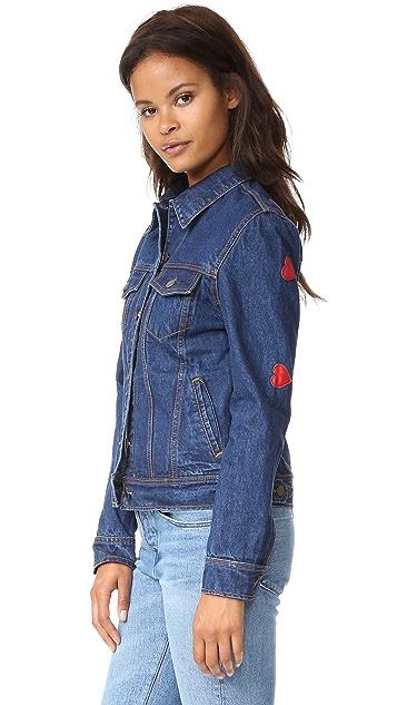 JN by JN LLOVET Hearts All Over Denim Jacket