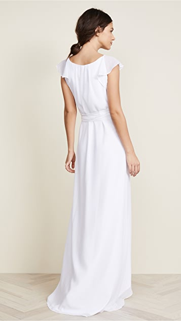 Joanna August Dorian Ruffle Sleeve Wrap Dress