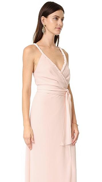 Joanna August The Parker Twist Strap Wrap Dress