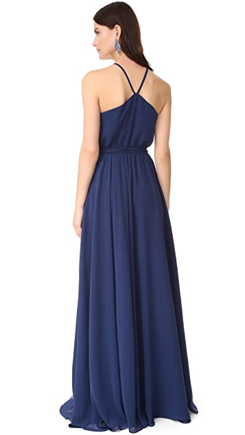 Joanna August Allison Skinny Strap Gown