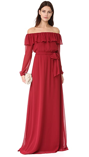 Joanna August Gina Long Sleeve Gown