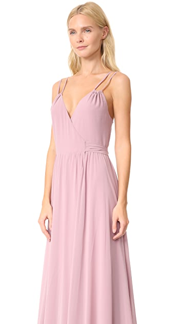 Joanna August Alessandra Long Double Strap Wrap Dress