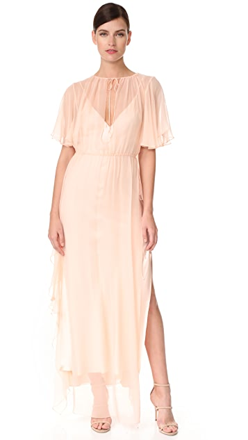 Juan Carlos Obando Ruffle Gathered Gown