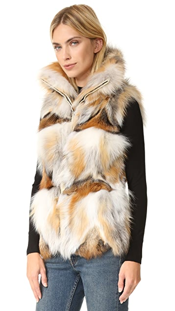 Jocelyn Silver and Golden Fox Patchwork Vest