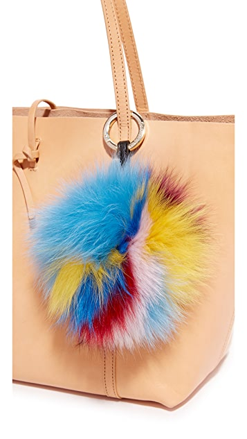 Jocelyn 6 Color Fur & Leather Bag Charm