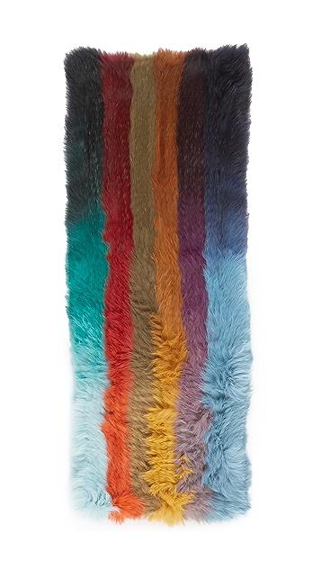Jocelyn Knitted Infinity Fur Scarf