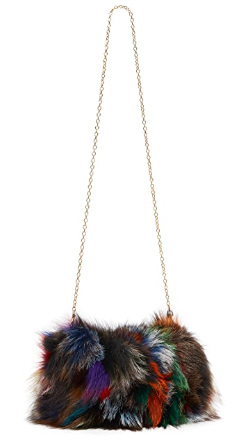 Jocelyn Fox Muff with Chain