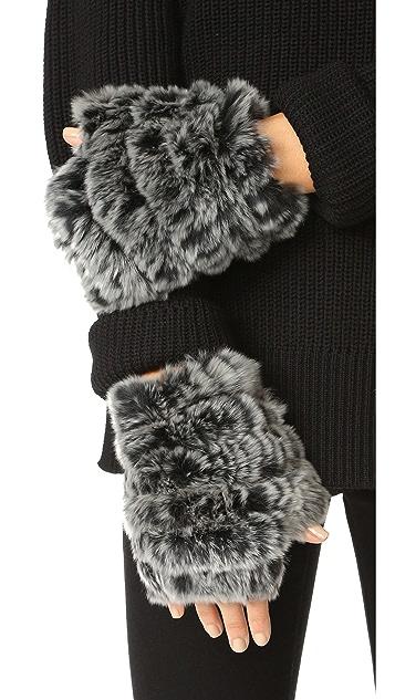 Jocelyn Fingerless Fur Mittens