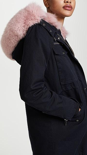 Jocelyn Cargo Coat With Fur Lining