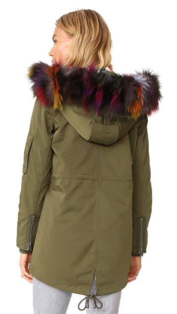 Jocelyn Cargo Coat With Mink Liner