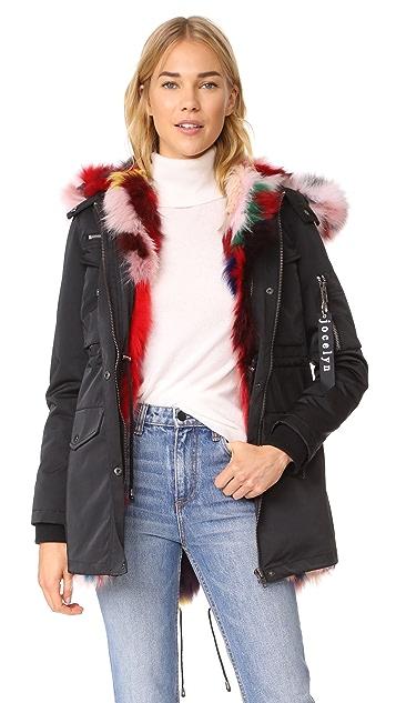 Jocelyn Cargo Coat With Fox Liner