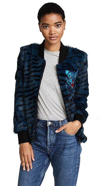 Jocelyn Tiger Print Bomber Jacket