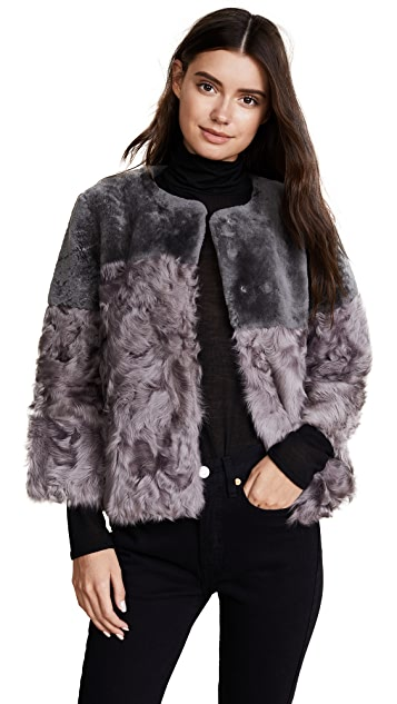 Jocelyn Shearling Patchwork Jacket