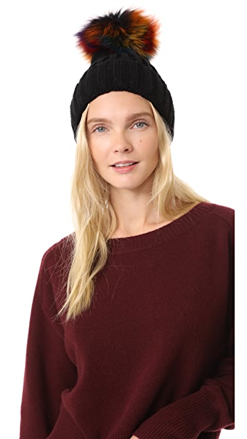 Jocelyn Knit Beanie Pom Hat